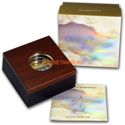 Австралия 100 долларов 2008 Сокровища Австралии Инкапсулированные Опалы (Australia 100$ 2008 Treasures of Australia Opals 1oz Gold Proof Coin).Арт.K3,5G (фото, вид 2)