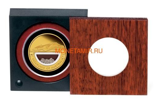Австралия 100 долларов 2009 Сокровища Австралии Инкапсулированные Алмазы (Australia 100$ 2009 Treasures of Australia Diamonds 1oz Gold Proof Coin).Арт.K3,5G (фото, вид 3)