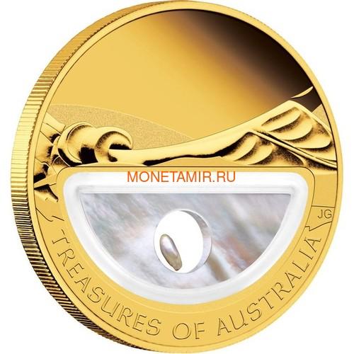 Австралия 100 долларов 2011 Сокровища Австралии Инкапсулированная Жемчужина (Australia 100$ 2011 Treasures of Australia Pearls 1oz Gold Proof Coin).Арт.K3,5G (фото, вид 1)