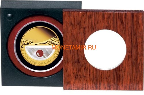 Австралия 100 долларов 2011 Сокровища Австралии Инкапсулированная Жемчужина (Australia 100$ 2011 Treasures of Australia Pearls 1oz Gold Proof Coin).Арт.K3,5G (фото, вид 3)