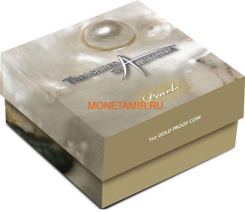 Австралия 100 долларов 2011 Сокровища Австралии Инкапсулированная Жемчужина (Australia 100$ 2011 Treasures of Australia Pearls 1oz Gold Proof Coin).Арт.K3,5G (фото, вид 4)