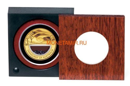 Австралия 100 долларов 2007 Сокровища Австралии Инкапсулированные Сапфиры (Australia 100$ 2007 Treasures of Australia Sapphires 1oz Gold Proof Coin).Арт.K3,5G (фото, вид 2)