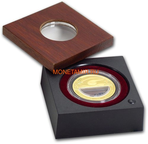 Австралия 100 долларов 2007 Сокровища Австралии Инкапсулированные Сапфиры (Australia 100$ 2007 Treasures of Australia Sapphires 1oz Gold Proof Coin).Арт.K3,5G (фото, вид 3)