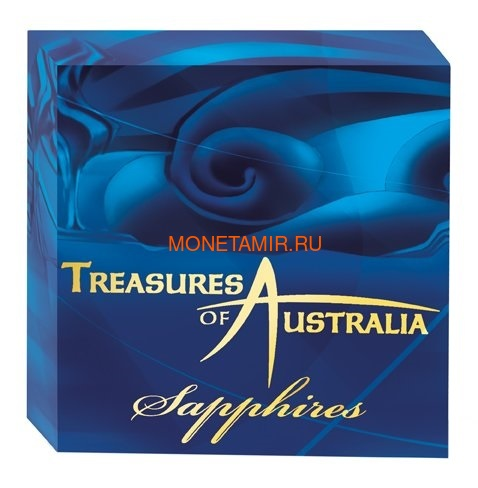 Австралия 100 долларов 2007 Сокровища Австралии Инкапсулированные Сапфиры (Australia 100$ 2007 Treasures of Australia Sapphires 1oz Gold Proof Coin).Арт.K3,5G (фото, вид 4)