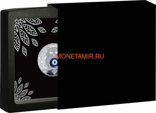 Ниуэ 1 доллар 2019 Сова Амулет (Niue 1$ 2019 Owl Amulet Silver Coin).Арт.67 (фото, вид 3)