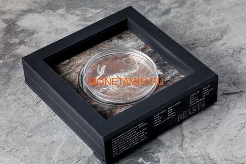 Монголия 2000 тугриков 2018 Велоцираптор (Mongolia 2000T 2018 Velociraptor 3 oz Silver Coin).Арт.60 (фото, вид 3)