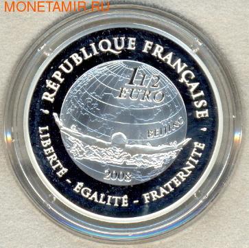 Франция 1 1/2 евро 2008. Летние игры 2008 - плавание (фото, вид 1)