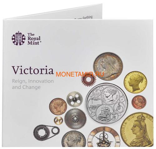 Великобритания 5 фунтов 2019 Королева Виктория 200 лет Корабль Паровоз Велосипед (GB 5£ 2019 200th Anniversary of the Birth of Queen Victoria Brilliant Uncirculated Coin) Блистер.Арт.67 (фото, вид 3)