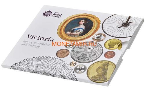 Великобритания 5 фунтов 2019 Королева Виктория 200 лет Корабль Паровоз Велосипед (GB 5£ 2019 200th Anniversary of the Birth of Queen Victoria Brilliant Uncirculated Coin) Блистер.Арт.67 (фото, вид 4)