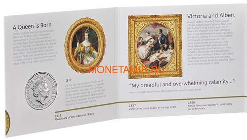 Великобритания 5 фунтов 2019 Королева Виктория 200 лет Корабль Паровоз Велосипед (GB 5£ 2019 200th Anniversary of the Birth of Queen Victoria Brilliant Uncirculated Coin) Блистер.Арт.67 (фото, вид 6)