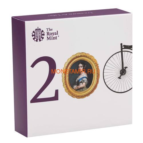 Великобритания 5 фунтов 2019 Королева Виктория 200 лет Корабль Паровоз Велосипед (GB 5£ 2019 200th Anniversary of the Birth of Queen Victoria Silver Proof Coin).Арт.67 (фото, вид 5)