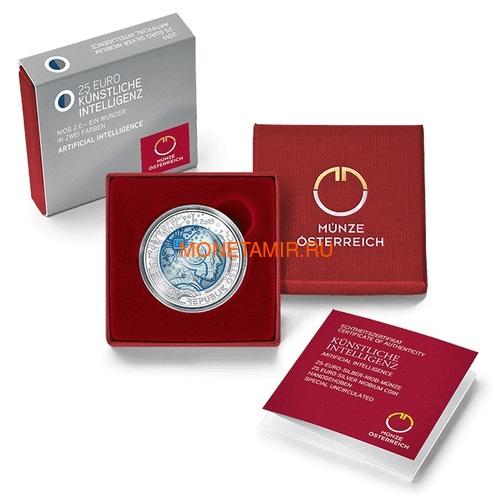 Австрия 25 евро 2019 Искусственный Интеллект (Austria 25 euro 2019 Artificial Intelligence Silver Niobium Coin).Арт.67 (фото, вид 2)