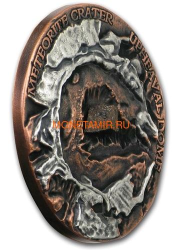 Ниуэ 1 доллар 2019 Метеоритный Кратер Апхивал (Niue 1$ 2019 Upheaval Meteorite Crater Coin Silver).Арт.65 (фото, вид 1)