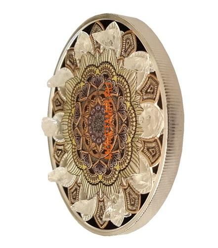 Гана 3х5 седи 2019 Метеориты Индошинит Ливийское Стекло Молдавит Космос Набор 3 Монеты (Ghana 3x5 Cedis 2019 Aeromant Impactite Collection Silver Coin Set).Арт.65 (фото, вид 5)