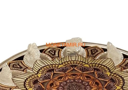 Гана 3х5 седи 2019 Метеориты Индошинит Ливийское Стекло Молдавит Космос Набор 3 Монеты (Ghana 3x5 Cedis 2019 Aeromant Impactite Collection Silver Coin Set).Арт.65 (фото, вид 6)