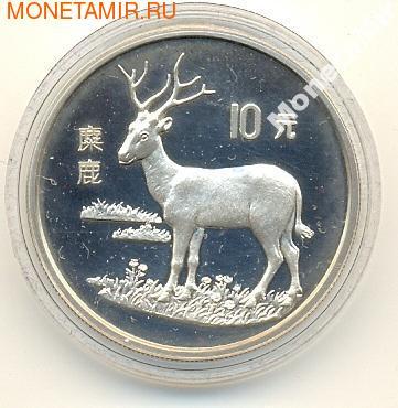 Олень. Китай 10 юаней 1994. (фото)