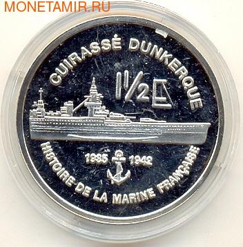 Мартиника 1,5 евро 2004 Корабль Дюнкерк (фото)