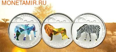 Того 3х100 франков 2011.Слон Лев Зебра - Защита дикой природы (призма).Арт.000274534343/60 (фото)