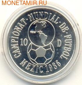 Чемаионат мира- Мексика 1986. Андорра 10 динеров 1986. (фото)