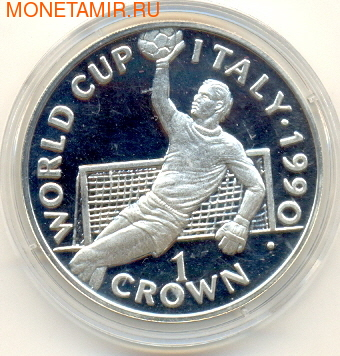 Чемпионат мира - Италия 1990. Вратарь. Гибралтар 1 крона 1990.