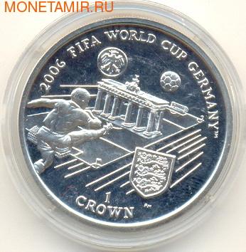 Остров Мэн 1 крона 2005.Чемпионат мира по футболу - ФИФА 2006 Германия.Арт.000148607616/60 (фото)
