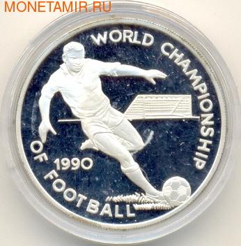 Чемпионат мира 1990. (Футболист с мячом). Ямайка 25 долларов 1990. (фото)