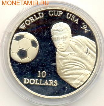 Чемпионат мира - США 1994. Науру 10 долларов 1994. (фото)