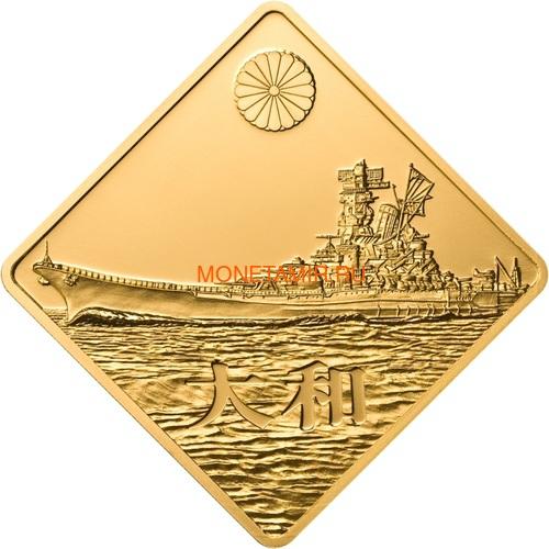 Палау 500 долларов 2008 Линкор Ямато Боевые Корабли (Palau 500$ 2008 Yamato Battleships 2,5oz Gold).Арт.60 (фото)