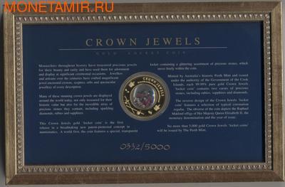 Острова Кука 100 долларов 2002.Сокровища Короны - Crown Jewels.Арт.2700D (фото)