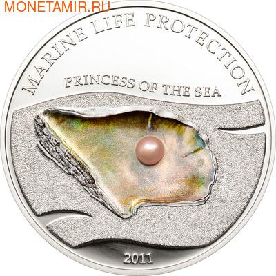 Палау 5 долларов 2011.Жемчужина - Принцесса моря серия Защита морской жизни. (фото)