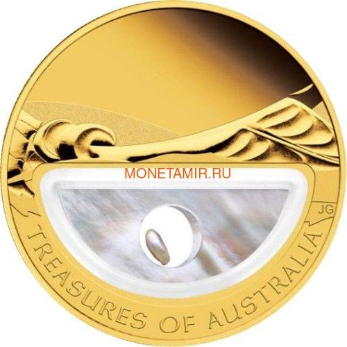 Австралия 100 долларов 2011 Сокровища Австралии Инкапсулированная Жемчужина (Australia 100$ 2011 Treasures of Australia Pearls 1oz Gold Proof Coin).Арт.K3,5G (фото)
