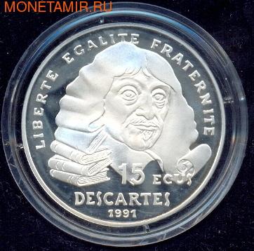 Франция 100 франков 1991. Рене Декарт (фото)