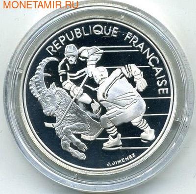 Франция 100 франков 1991. Олимпиада 1992 - хоккей (фото)