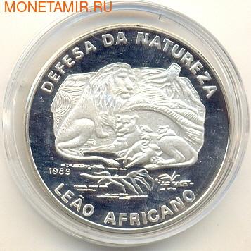 """Мозамбик 500 метикал 1989.""""Львы"""".Арт.000108040291 (фото)"""