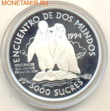 Эквадор 5000 сукре 1994.Пингвины.Арт.000298037080 (фото)