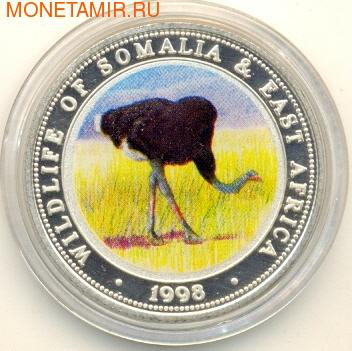 Сомали 250 шиллингов 1998.Птица - Страус серия Живая природа.Арт./60 (фото)