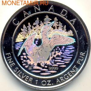 Канада 5 долларов 2002. Утка (голограмма) (фото)