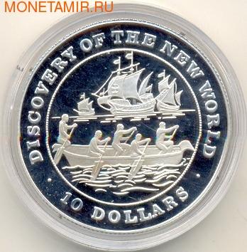 Багамы 10 долларов 1991. Корабль. (фото)