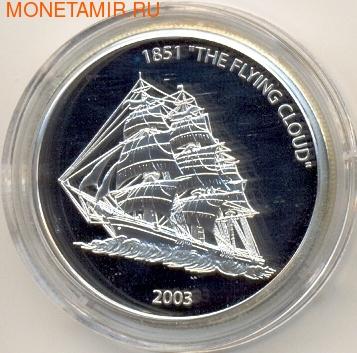 Либерия 10 долларов 2003.Корабль Летящее Облако (Flying Cloud).Арт.000111339914 (фото)