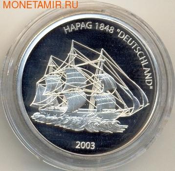 Либерия 10 долларов 2003.Корабль Германия (Deutschland).Арт.000085020879 (фото)