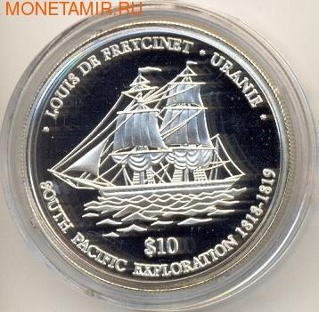"""Ниуэ 10 долларов 2001. Корабль """"Урания"""" (фото)"""