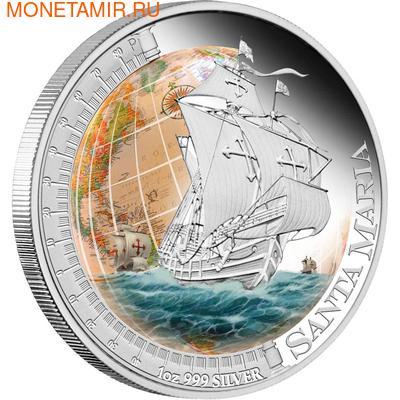 Тувалу 1 доллар 2011.Корабль - Санта Мария (SANTA MARIA) серия Корабли которые изменили мир.Арт.000340537590/60 (фото)