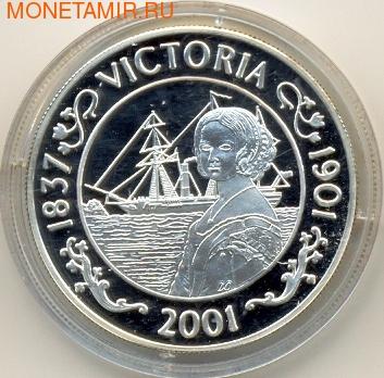 Корабль,Королева Виктория. Остров Святой Елены 50 пенсов 2001. Арт: 000085020882 (фото)