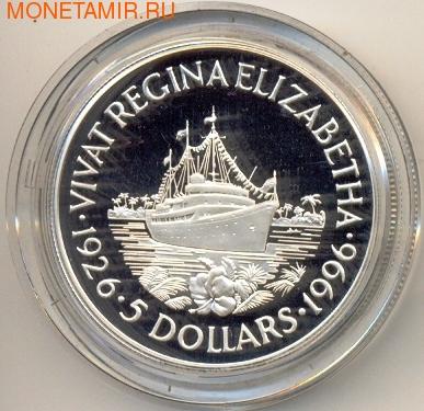 Соломоновы Острова 5 долларов 1996. Корабль (фото)