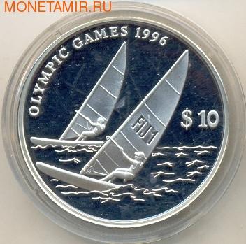 Фиджи 10 долларов 1995. Олимпийские игры 1996 (фото)