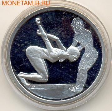 Греция 10 евро 2004. Олимпийские игры - Афины. Прыжки в воду (фото)