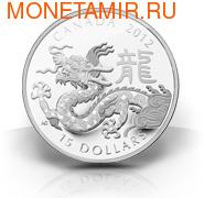 Канада 15 долларов 2012. Год Дракона
