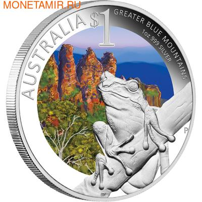 """Австралия 1 доллар 2011. """"Празднование Австралии"""" """"Сидней"""" """"Лягушка"""" (фото)"""