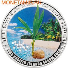 """Острова Кука 5 долларов 2012. """"43-й Форум тихоокеанских островов"""" (фото)"""