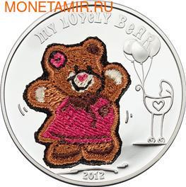 """""""Мишка"""" """"Вязанный""""(девочка). Палау 5 долларов 2012. (фото)"""